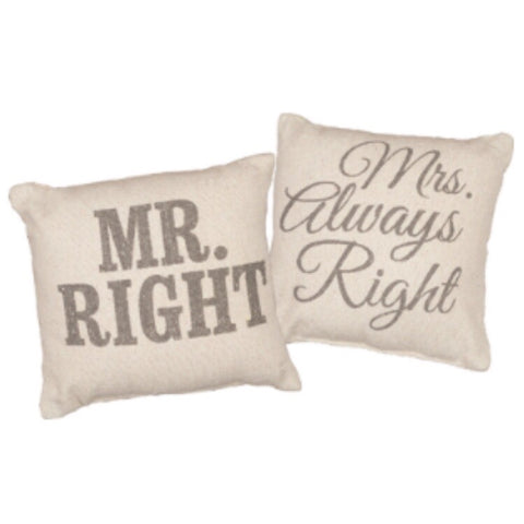 Mr. & Mrs. Right Pillow Set