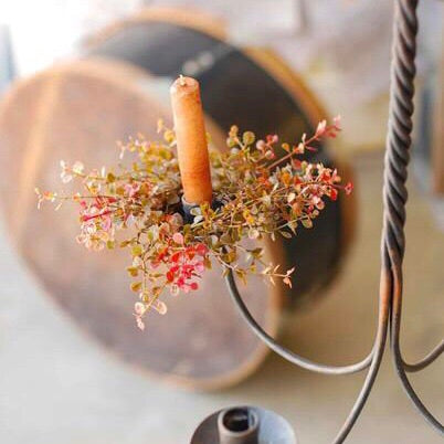 Baby Grass Candle Ring - Red