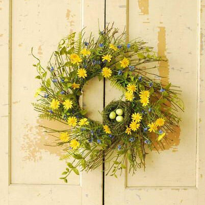 Daisy & Jasmine Wreath