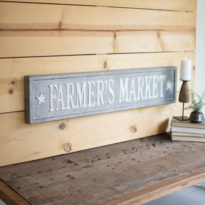 Farmer's Market Sign with Stars
