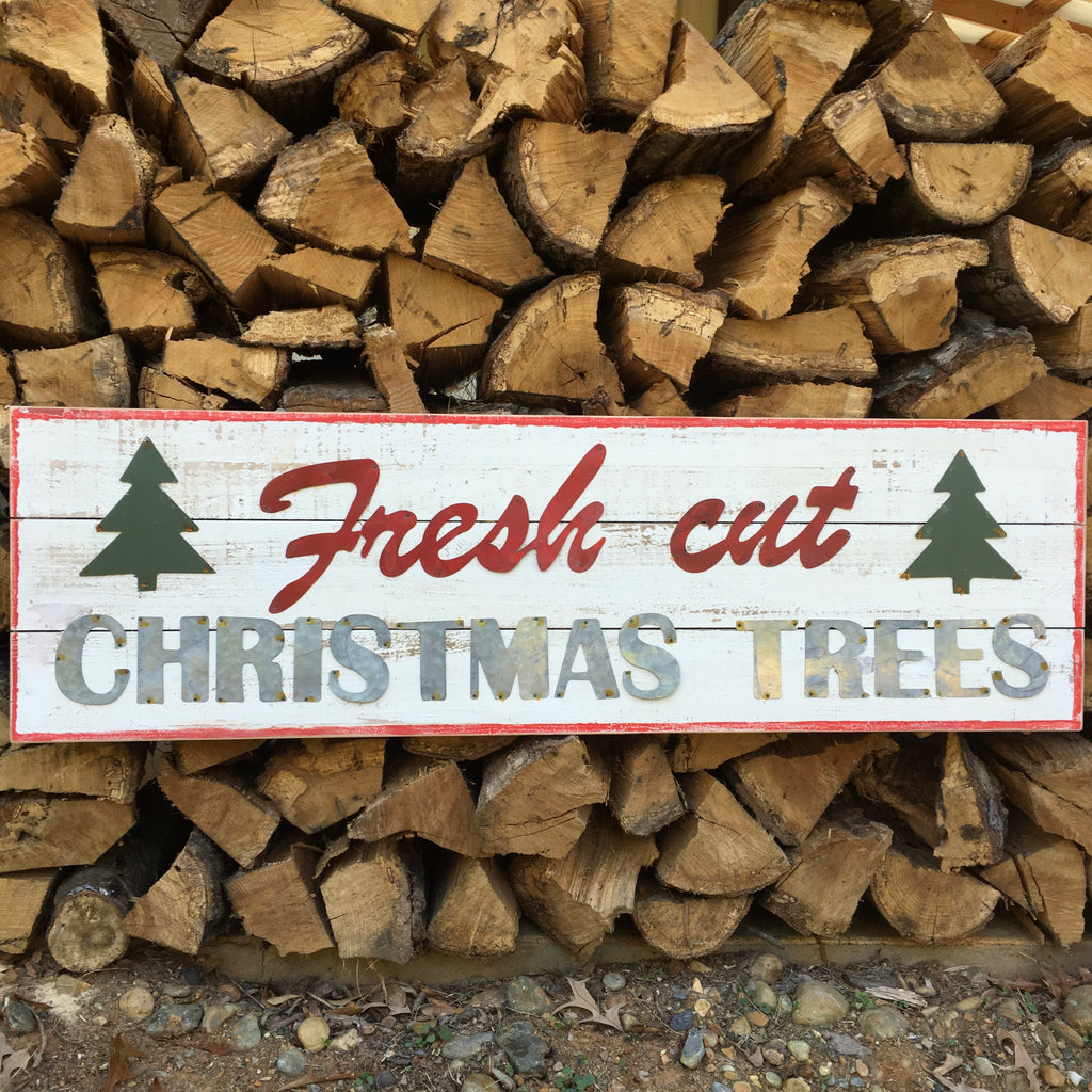 Fresh Cut Christmas Trees Wall Decor