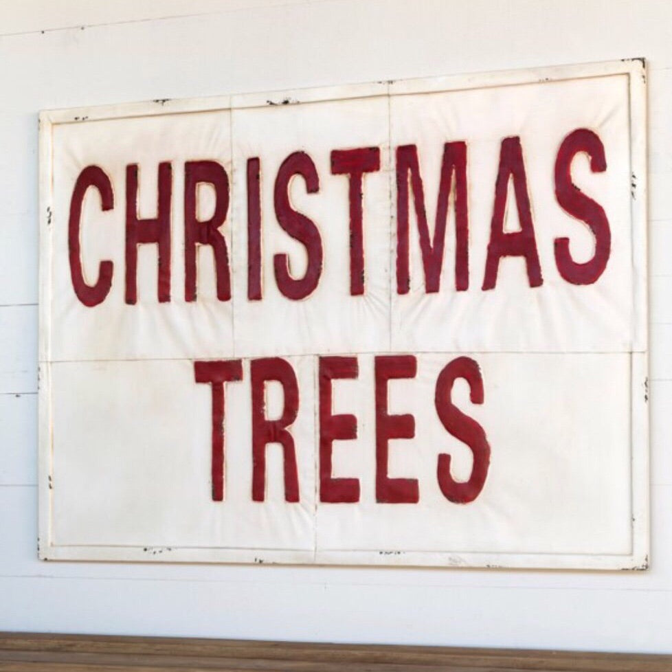 Large Christmas Trees Sign