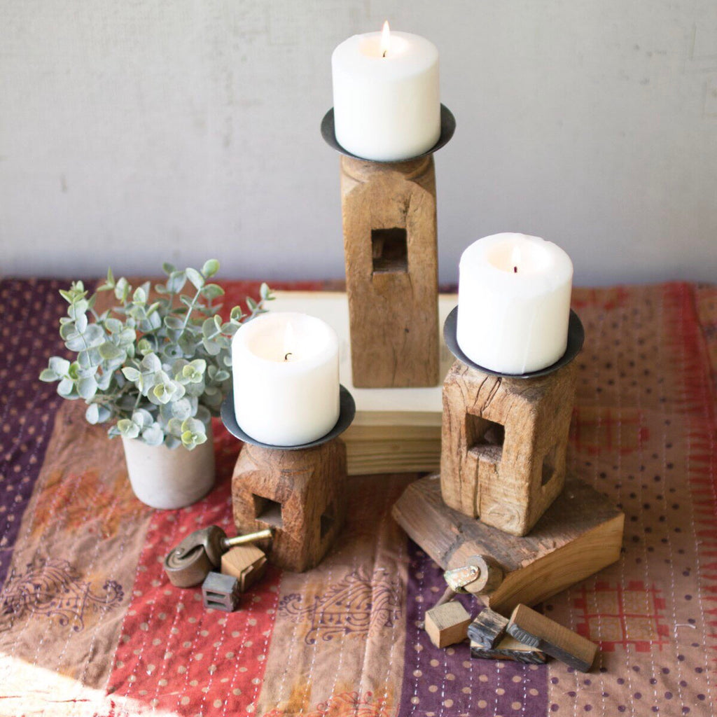 Reclaimed Candle Holders
