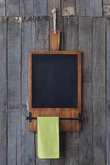 Farmhouse Chalkboard with Towel Bar