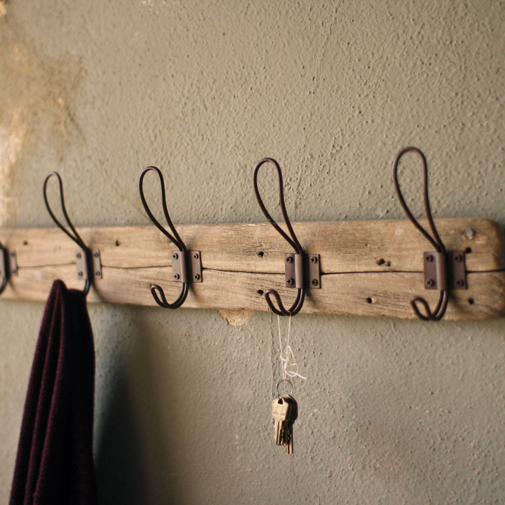 Recycled Split Wood Coat Rack