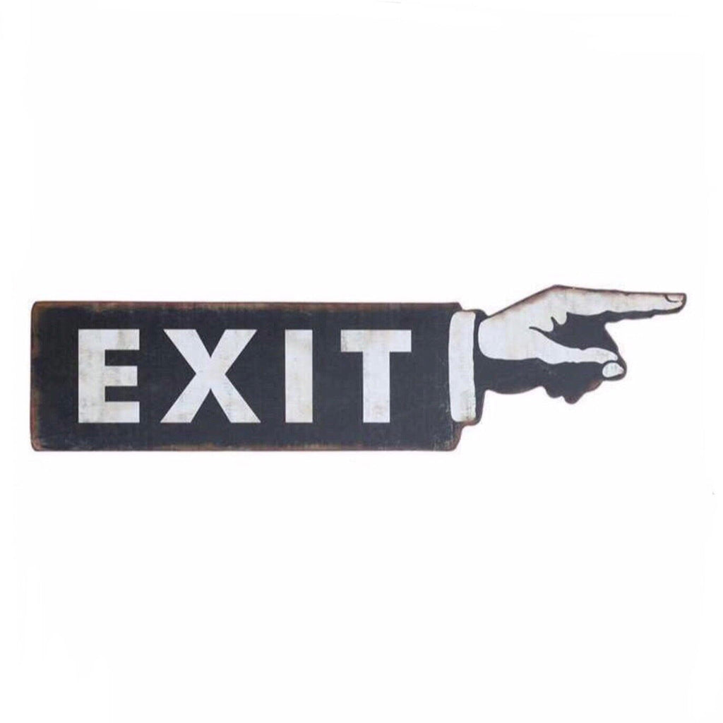 Exit This Way Sign