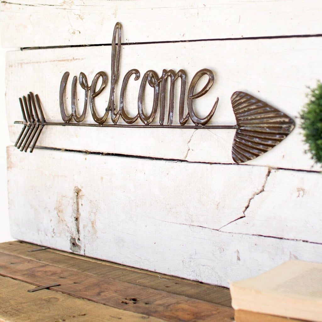 Hammered Welcome Sign
