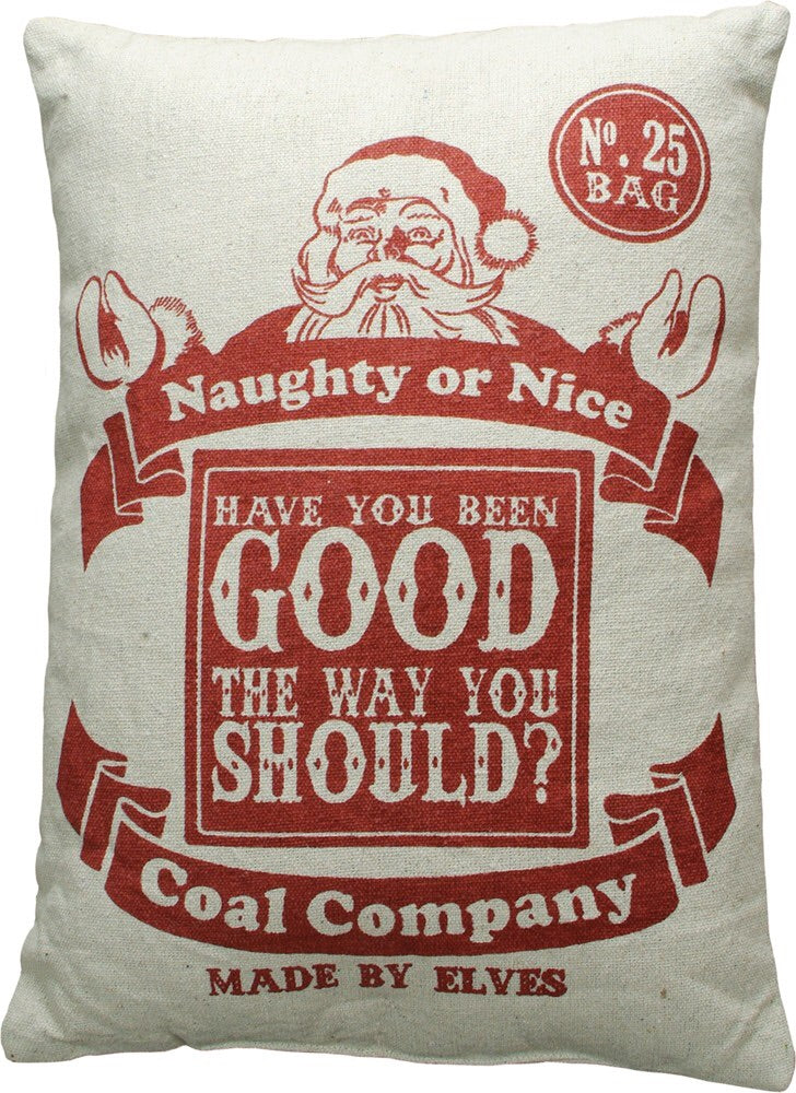 Naughty or Nice Pillow
