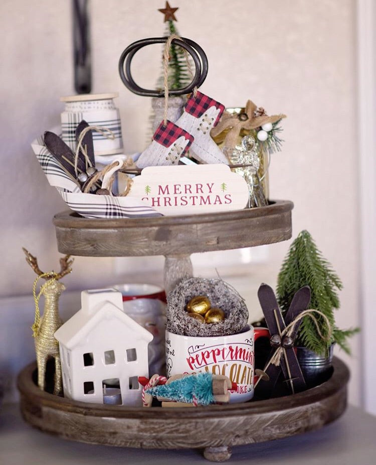 Farmhouse Tiered Tray
