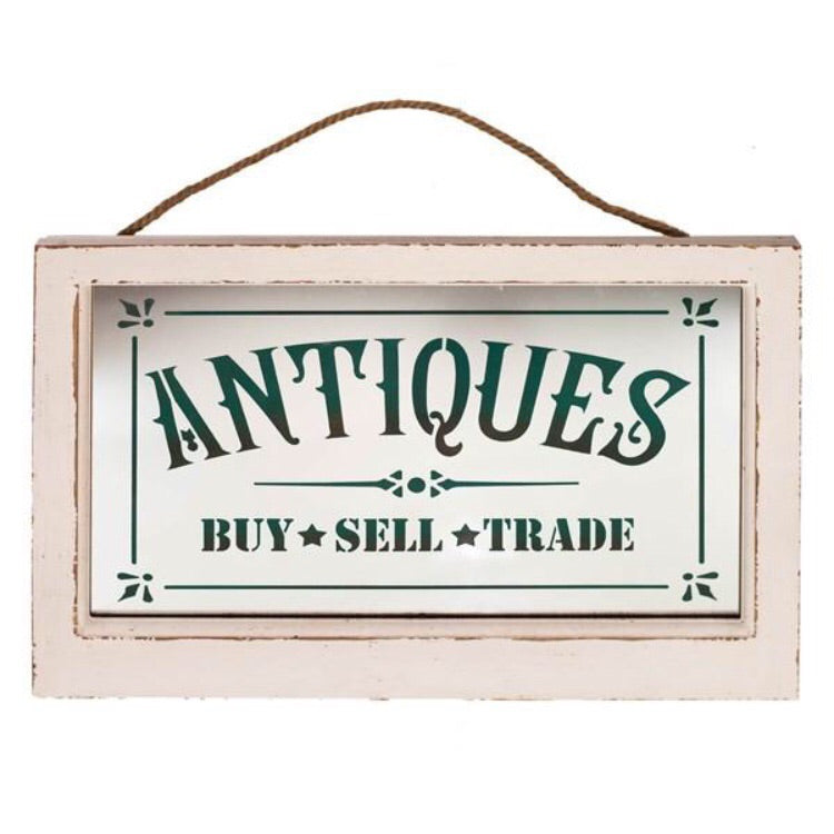 Wooden Antiques Sign