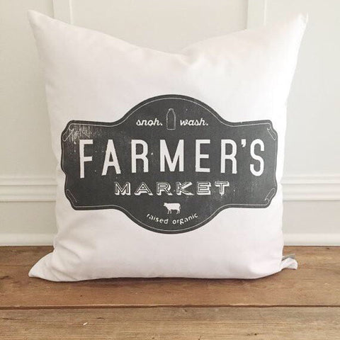 Farmer's Market Pillow Cover