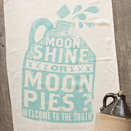 Moonshine or Moon Pies Kitchen Towel