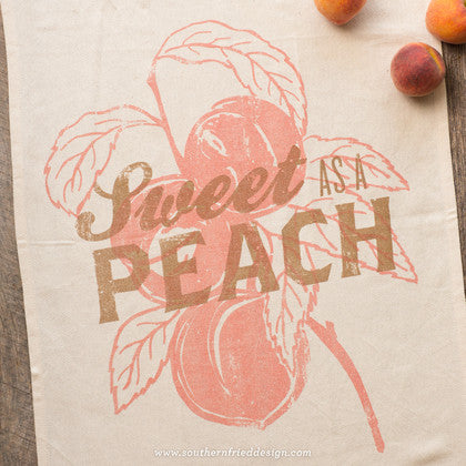 Sweet as a Peach Kitchen Towel