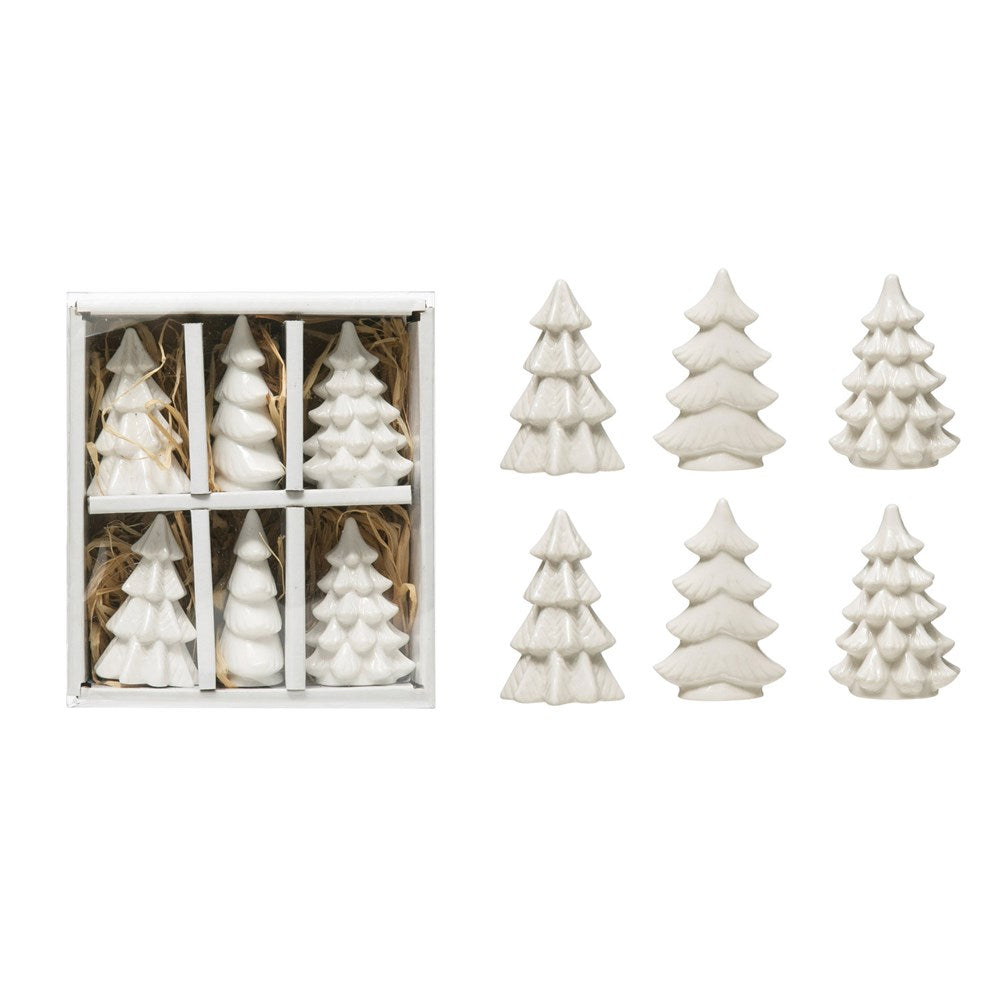 Shimmer Stoneware Trees