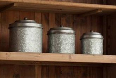Galvanized Container Set