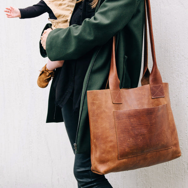 Vintage Leather Baby Bag