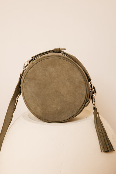 Moss Suede Round Bag (Last One)