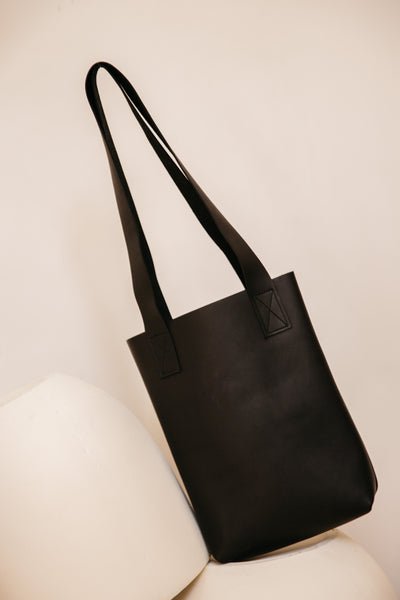 Pre-Order Black Leather Tote