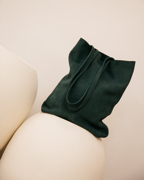 Evening Green Suede Tote (Last One)