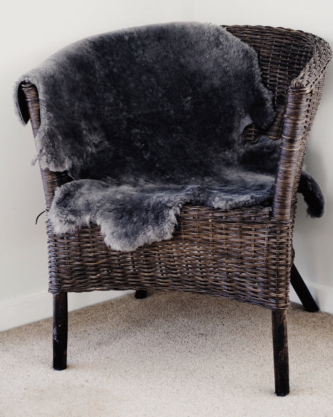 Grey Giant Sheep Skin Throw