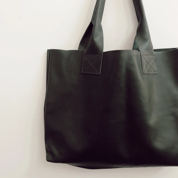 Emerald Green Leather Poppins Bag (Only 1)