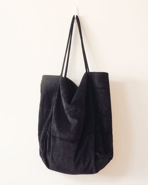 Vintage Cord Navy Coal Tote (last one!)