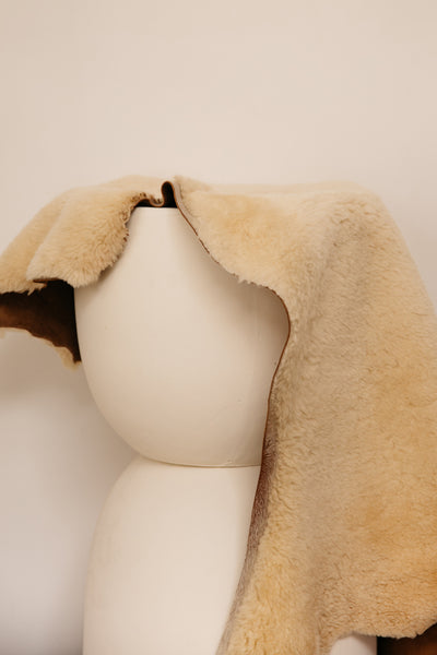 Chestnut Giant Sheep Skin Throw