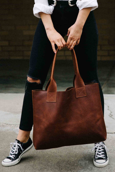 Vintage Leather Poppins Bag