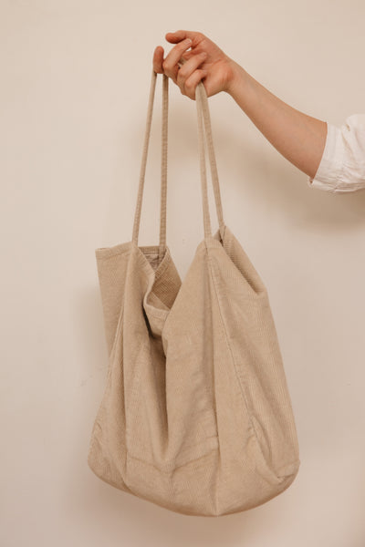 Vintage Cord Oatmeal Tote (last one!)