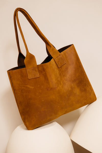 Raw Leather Poppins Bag (last one!)