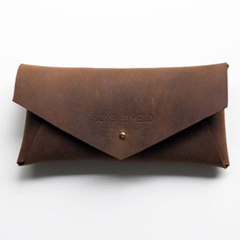 Postman Raw Leather Glasses Case - Honey & Heid Clutch Honey & Heid Honey & Heid