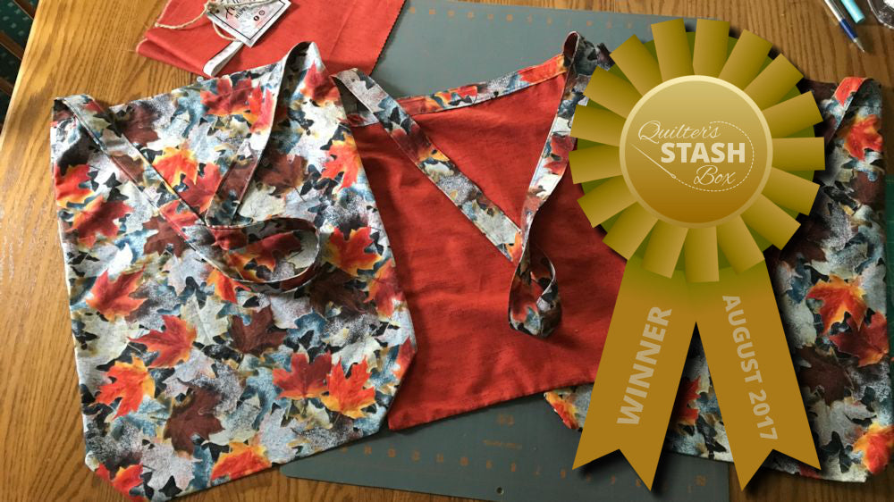 Winner Sews Shopping Bags from Autumn Fabric in Quilter's Stash Box