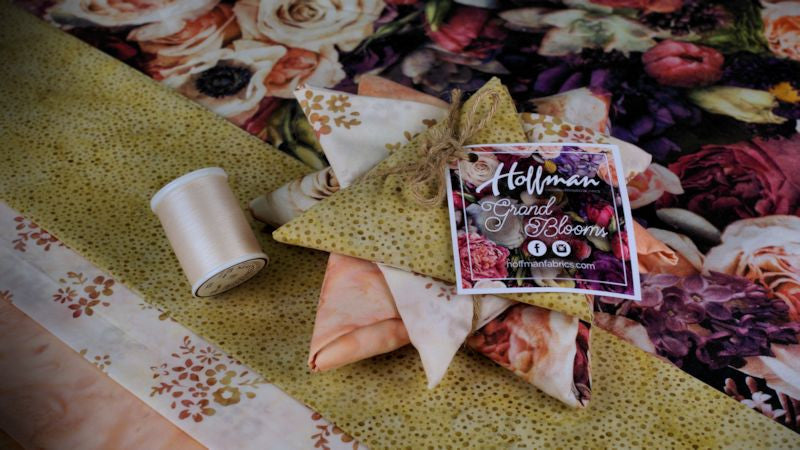 New Hoffman Fabric Revealed in Stash Box: Grand Bloom