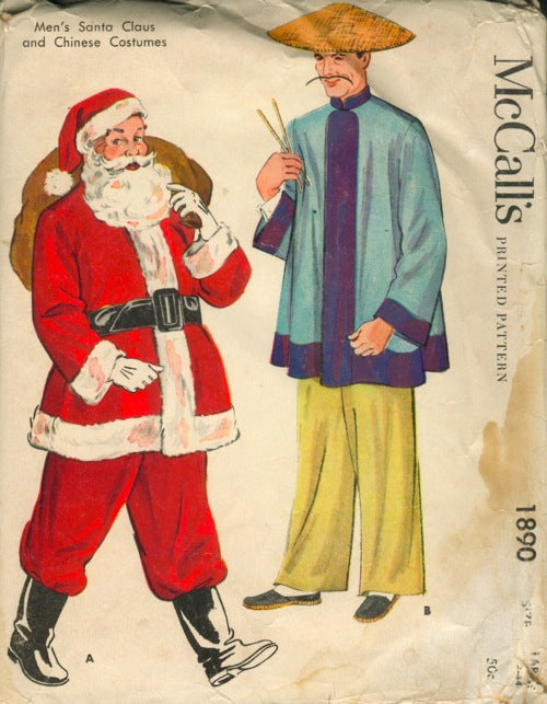 McCall's 1890 Men's Santa Claus and Chinese Costumes