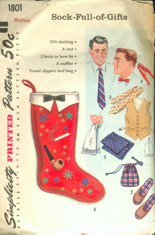 1956 Simplicity 1801 Sock-Full-of-Gifts