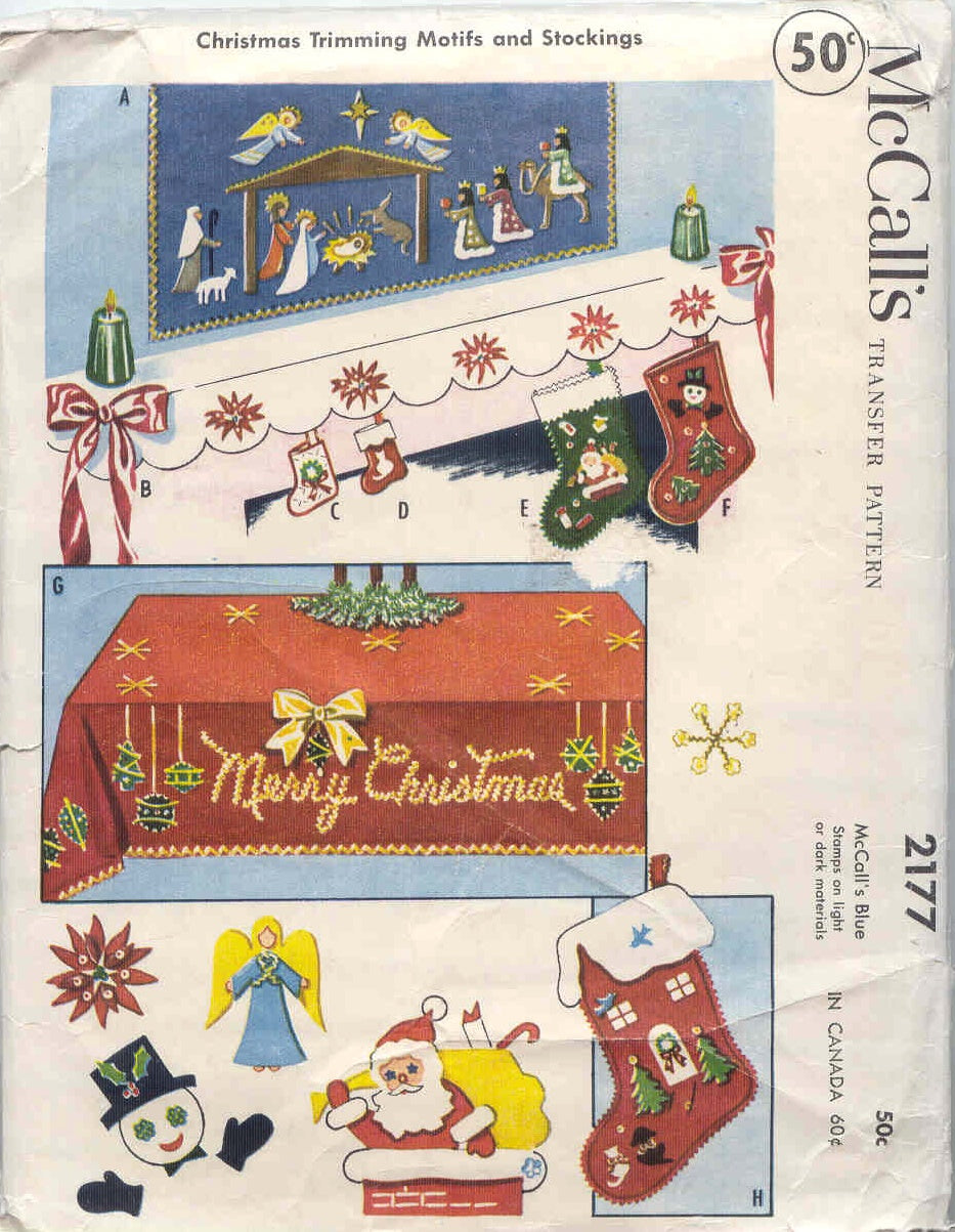 1958 McCall's Christmas Trimming Motifs and Stockings