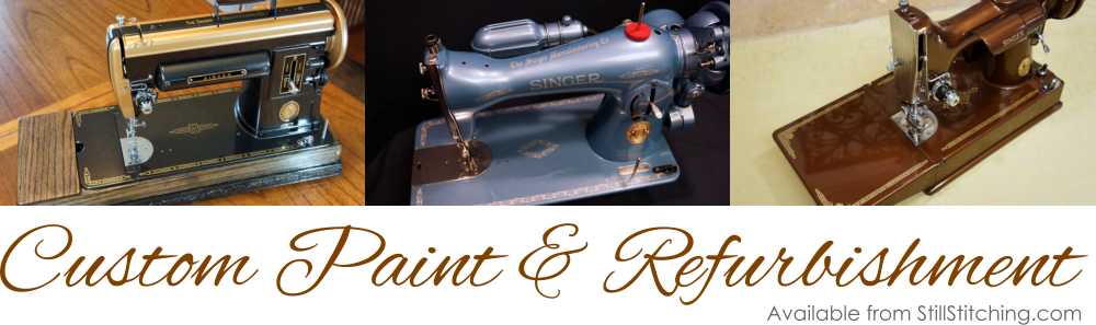We custom paint Singer Sewing Machines