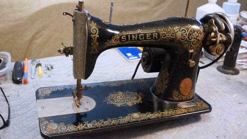 the machine above is a singer 15-30 manufactured on january 6, 1920  at  some point in its nearly 100-year life, the machine was