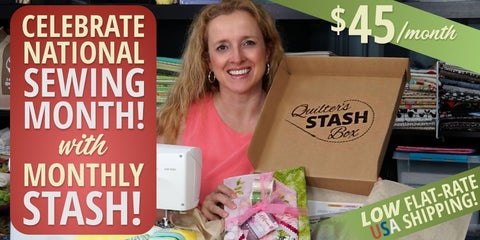 Try Quilter's Stash Box - save with a subscription!