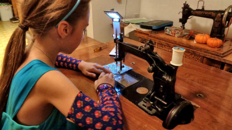 Sewing on a Wheeler and Wilson 8