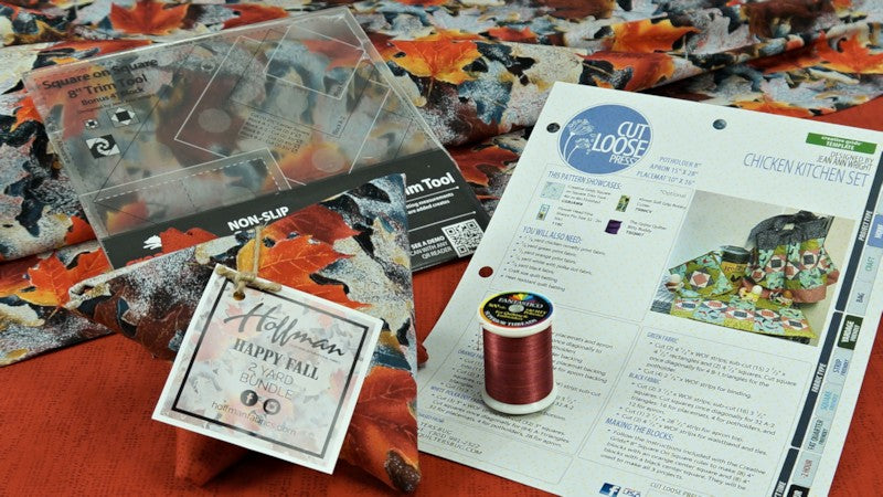 "August 2017 ""Happy Fall"" Quilter's Stash Box"