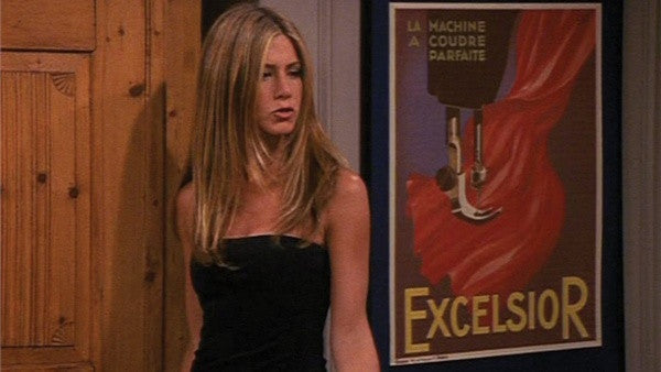 Excelsior - Rachel, Friends, Sewing Machine Poster