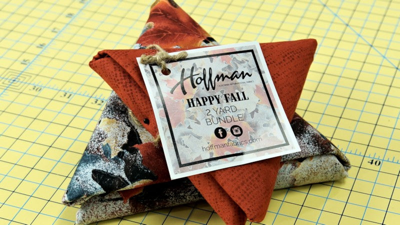 Hoffman California-International Fabrics in August 2017 Quilter's Stash Box
