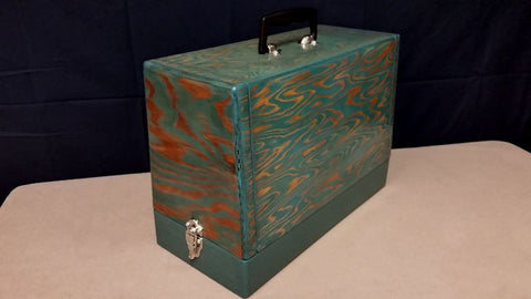 Vintage Case - Turquoise Grain & Honey Gold