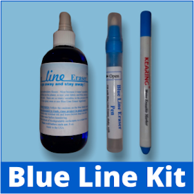 Blue Line Eraser 3-Piece Kit