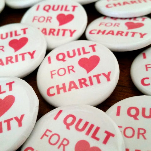 I Quilt for Charity Button - Set of 12