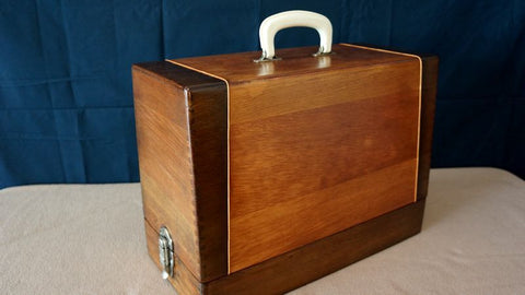 Vintage Case - Classic Brown w/ Gold Piping