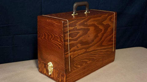Vintage Case - Chestnut w/ Gold Accents