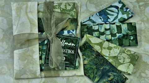 Hoffman Bali Batiks - Precut Bundle in Greens
