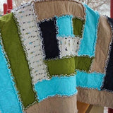 Log Cabin Rag Quilt Pattern